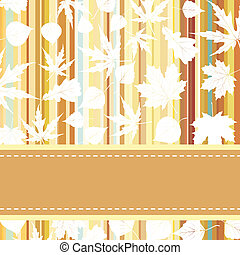 Retro pattern with autumn leafs. EPS 8