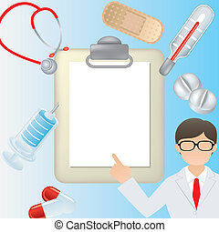 Medical frame - Illustration vector