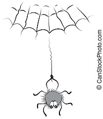 Spider - Cartoons comic spider on white for design