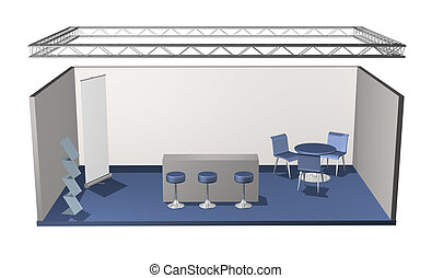 Basic blank fair stand with lighting truss construction...