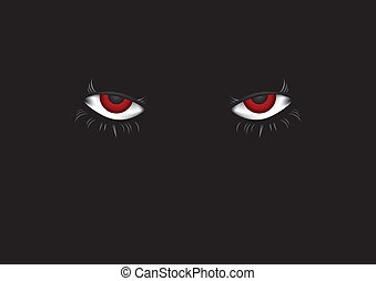 Eyes in dark