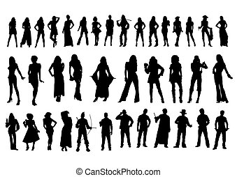 Silhouettes bodies  - figure collection