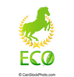 glass eco symbol green color isolated