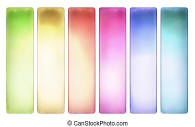 Candy color textured banner set isolated with clipping path