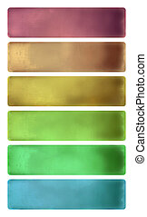 Colorful watercolor textured banner set