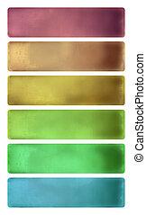 colorido, acuarela, Textured, bandera, Conjunto