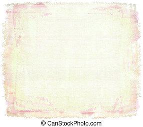 Cor-de-rosa, aquarela, lona