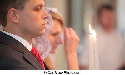 Wedding in church - wedding ceremony in the Christian Church