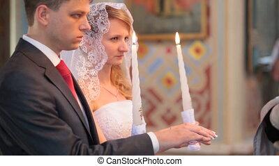 Wedding in church - wedding ceremony in the Christian Church