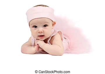 Ballet Baby - Baby girl wearing a ballet outfit and...
