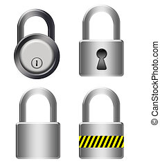 metallic locks - silver metallic locks isolated over white...