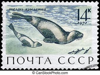USSR - CIRCA 1971 Seals
