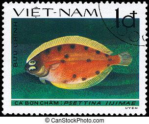 VIETNAM - CIRCA 1982 Lefteye Flounder - VIETNAM - CIRCA...