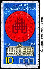 GDR - CIRCA 1969 Rostock University - GDR - CIRCA 1969: A...