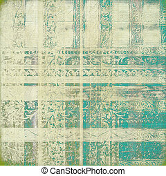 Grungy oriental background - Grungy green and white oriental...
