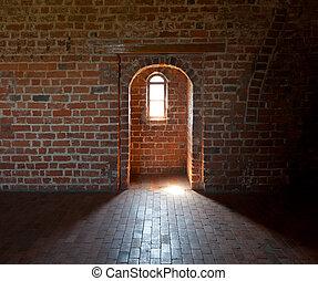 mediaeval castle - Interior of the apartment of mediaeval...