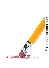 Pencil eraser - A pencil eraser removing a written mistake...
