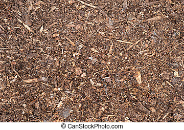 Topsoil - A top down image of freshly spread peat moss...
