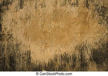 Sandy plaster with grunge black frame