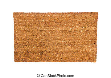 Doormat - A plain brown doormat isolated on white Designed...