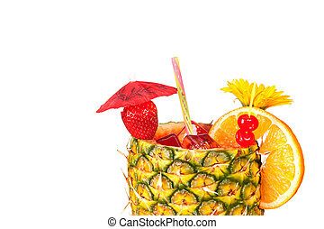 Isolated tropical drink - A cold, refreshing tropical rum...