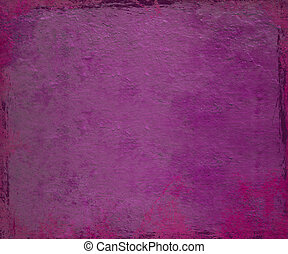Purple and pink paintdrip plaster with grunge frame background
