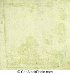 Light cream handmade paper with grunge frame