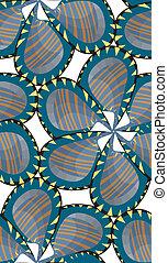 Seamless Pinwheel Flower