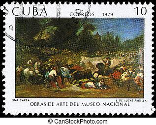 CUBA - CIRCA 1979 Robbery - CUBA - CIRCA 1979: A Stamp...