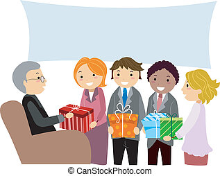 Retirement Party - Illustration of a Quiet Retirement Party