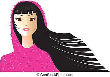 Vector fashion woman