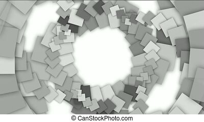 swirl square paper shaped tunnel hole,mechanic gear...