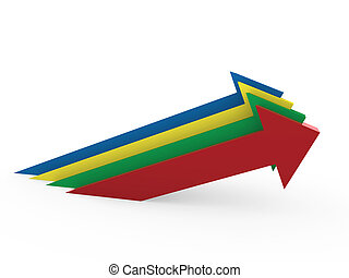 3d arrow high colorful