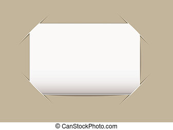 Business card blank - Plain blank business card stuck on...