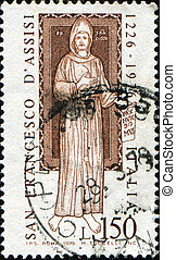 San Francesco - ITALY - CIRCA 1976: A stamp printed in Italy...