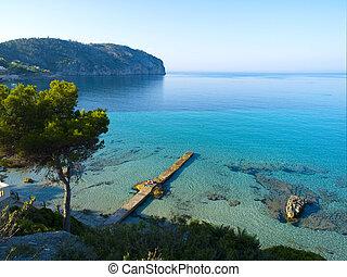 campo, estropear, playa, Mallorca
