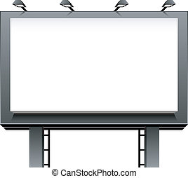 Advertising Billboard isolated over white EPS 8, AI, JPEG