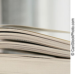 thick open book pages