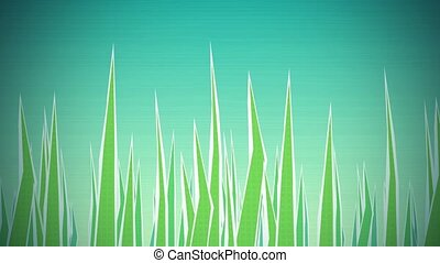 Grass Illustrated Loop HD - Dynamic graphic animation using...