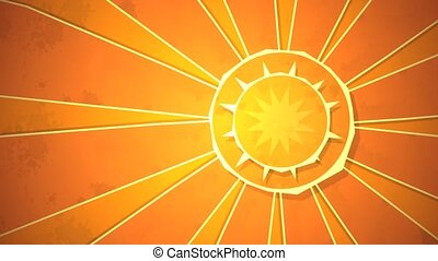 Radial Sunshine Loop HD - Dynamic graphic animation using...