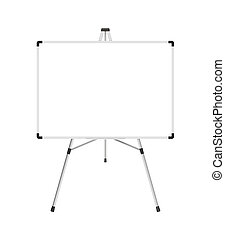 Whiteboard - XL - Blank whiteboard with stand isolated on a...