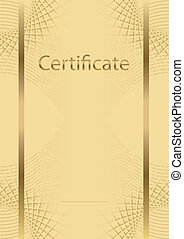 empty certificate  - background diploma