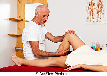 Rest and relaxation through massage