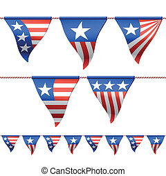 Patriotic bunting flags - Seamless (horizontally) vector...
