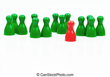 Leader of the team. Chef and entrepreneur. - Red and green...