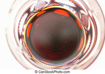 Redwine - A glass of red vine with a birds view...