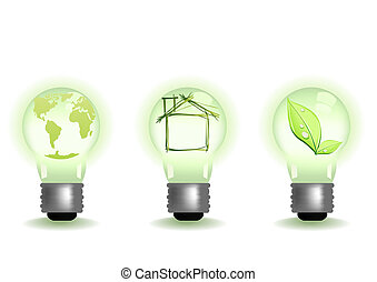 ecology-green-light - Vector illustration of different green...