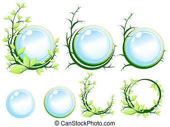 ecology-green-earth-concept - Green symbol, vector...