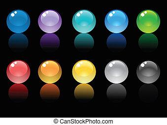 Glossy-spheres