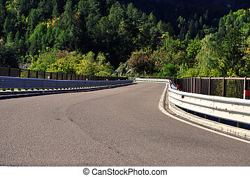 road bridge on the mountain
